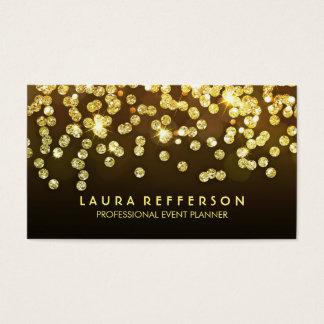 Gold Diamonds - Faux Gold Foil Confetti Black Business Card