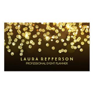 Gold Diamonds - Faux Gold Foil Confetti Black Pack Of Standard Business Cards