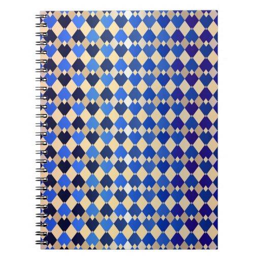 Gold Diamonds Spiral Note Book