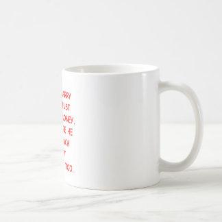 gold digger basic white mug