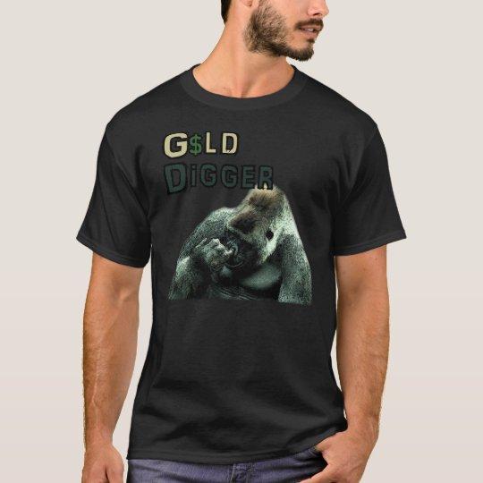 GOLD DIGGER Funny Nose picking Gorilla T-Shirt