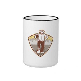 Gold Digger Miner Prospector Shield Coffee Mugs