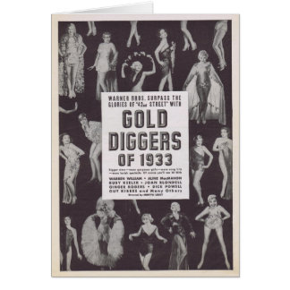 Gold Diggers of 1933 vintage movie ad Greeting Card