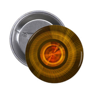Gold disc pinback button