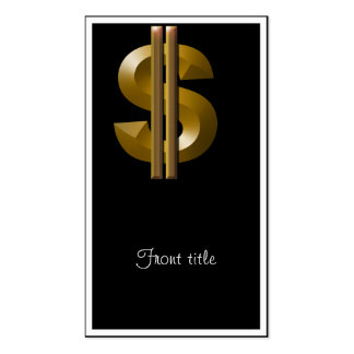 Gold Dollar Sign Business Card Template