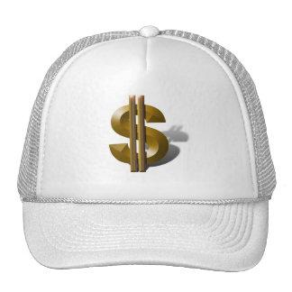 Gold Dollar Sign Hats