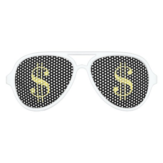 Gold $ Dollar Signs Bling Party Favour Sunglasses