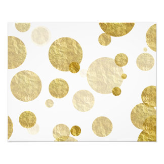 Gold Dot Faux Foil Sequin Bokeh Background Dots Photo Print