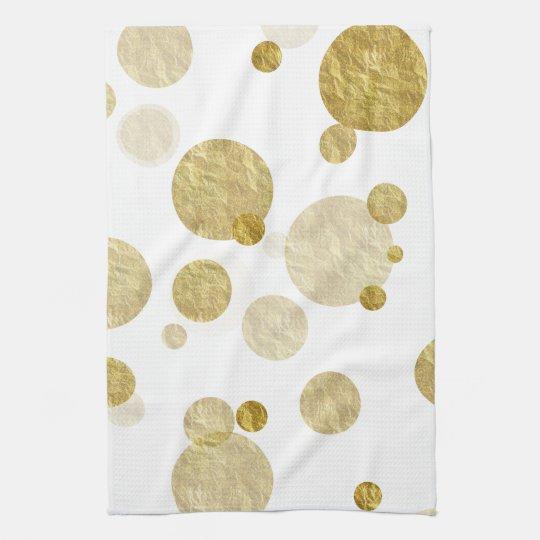 Gold Dot Faux Foil Sequin Bokeh Background Dots
