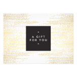 GOLD DOT PATTERN Gift Certificate Invitation