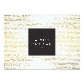 GOLD DOT PATTERN Gift Certificate 4.5x6.25 Paper Invitation Card