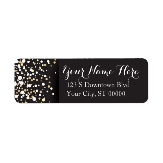 Gold Dots - Address Labels