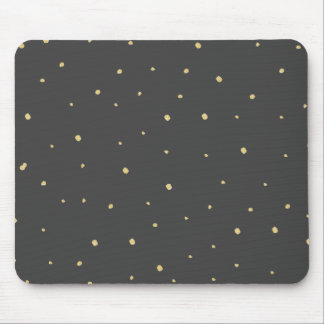 Gold Dots Mousepad Black