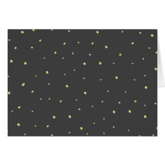 Gold Dots Note Card - Black
