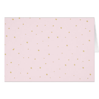 Gold Dots Note Card - Pink