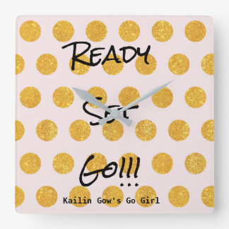 Gold Dots Ready Set Go Clock