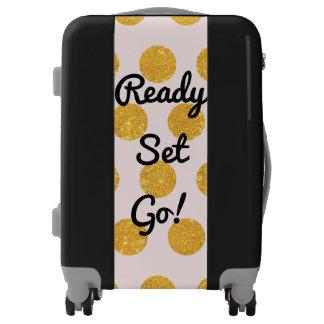 Gold Dots Ready Set Go Luggage
