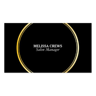Gold Double Ring Pack Of Standard Business Cards