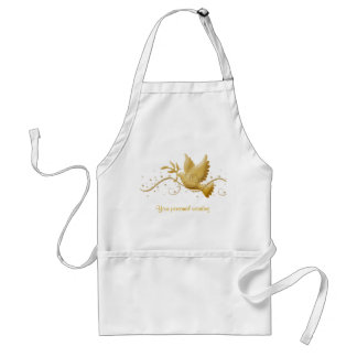 Gold dove of peace chefs & caterers Christmas apro Standard Apron