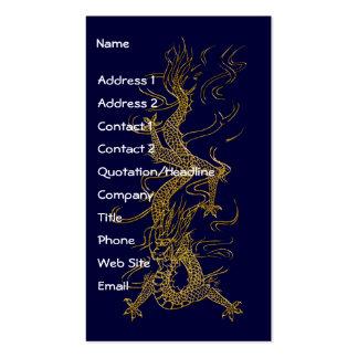 GOLD DRAGON Asian Design Biz Cards Pack Of Standard Business Cards