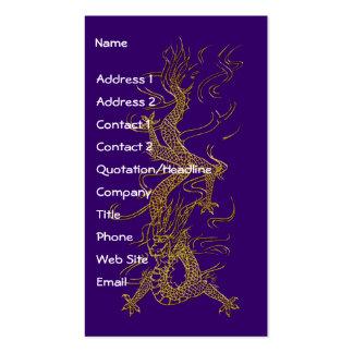 GOLD DRAGON Asian Design Business Cards