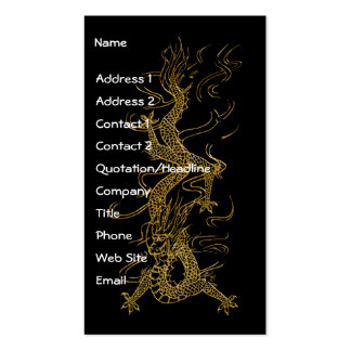 GOLD DRAGON Asian Design Pack Of Standard Business Cards