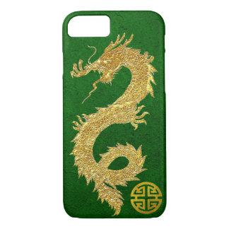 Gold Dragon Chinese Prosperity Symbol iPhone 7 Case