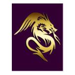 GOLD DRAGON POST CARD