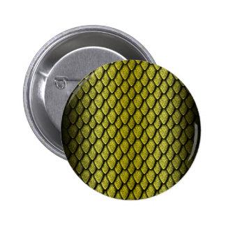 Gold Dragon Scales 6 Cm Round Badge