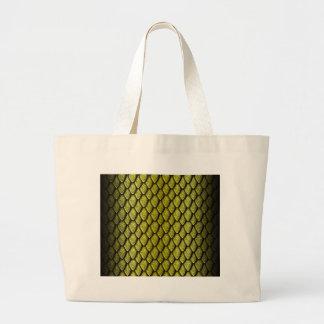 Gold Dragon Scales Canvas Bag