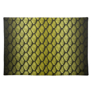 Gold Dragon Scales Placemats