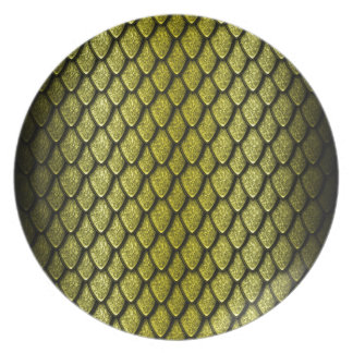 Gold Dragon Scales Party Plates