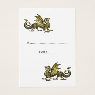 Gold Dragon Wedding Place Card