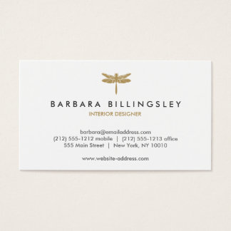 GOLD DRAGONFLY LOGO Designer Business Card