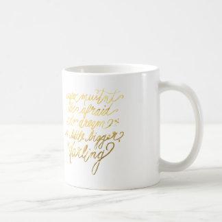 "Gold ""Dream Bigger"" Mug"