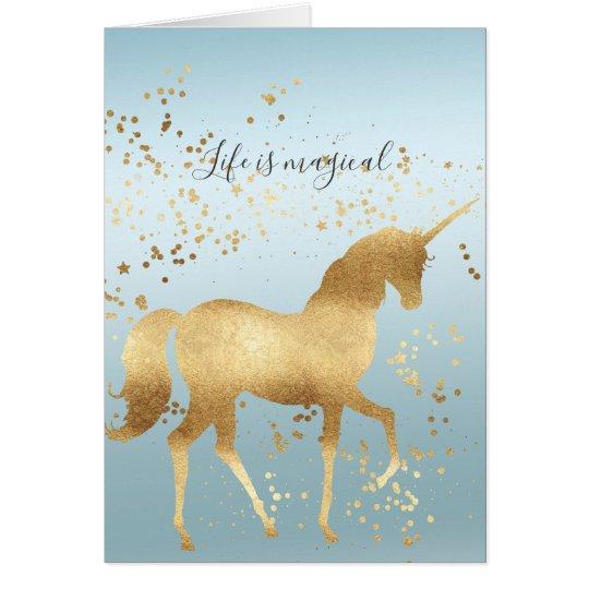 Gold Dream Unicorn Card