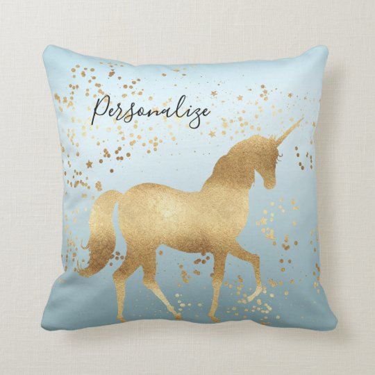 Gold Dream Unicorn Cushion
