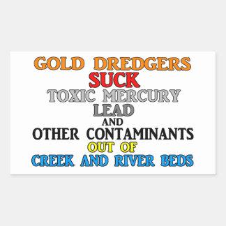 Gold Dredgers Rectangular Sticker