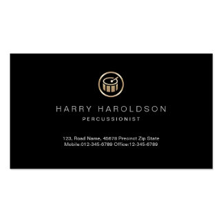 Gold Drum Icon Percussionist Business Card