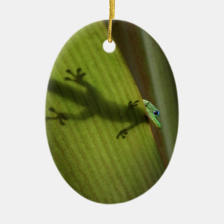 Gold Dust Day Gecko Christmas Ornament