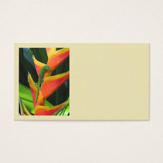 Gold Dust Gecko on Heliconia Business Card