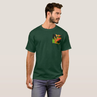 Gold Dust Gecko on Heliconia T-Shirt