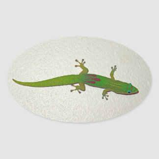 Gold Dust Gecko Oval Sticker