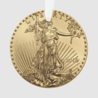 Gold Eagle coin Ornament