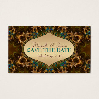 Gold Earth Bohemian Save the Date Mini Cards