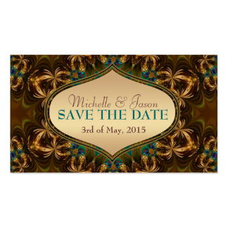 Gold Earth Bohemian Save the Date Mini Cards Pack Of Standard Business Cards