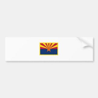 Gold Edge Arizona Flag Bumper Sticker