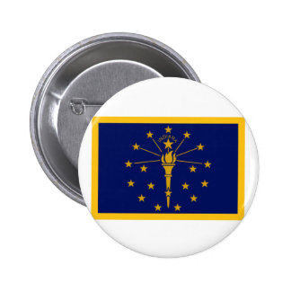 Gold Edge Indiana Flag 6 Cm Round Badge