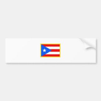 Gold Edge Puerto Rico Flag Bumper Sticker