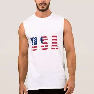 Gold-Edged USA Flag Men's Sleeveless T-Shirt
